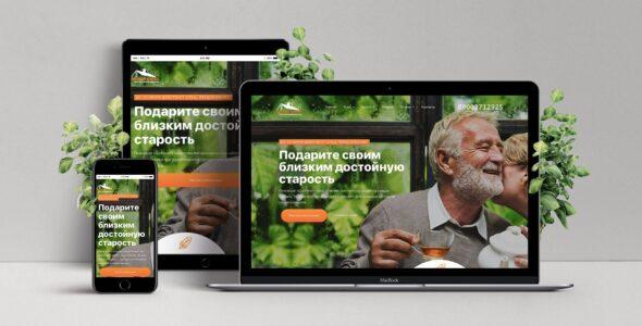 Шаблон сайта дом престарелых