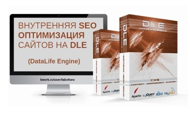 Внутренняя SEO оптимизация сайтов на DLE - DataLife Engine SEO 1 - kwork.ru