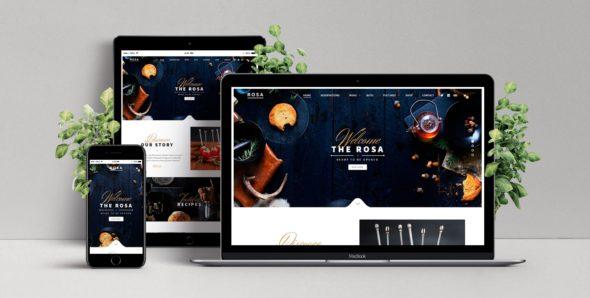 Шаблон сайта для кафе