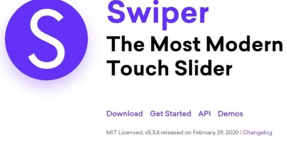 Слайдер для самописных сайтов swiperjs